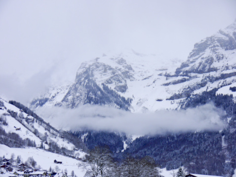 Snow mountain in Switzerland
