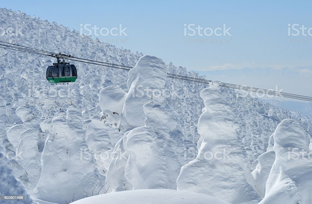 Snow Mountain stock photo