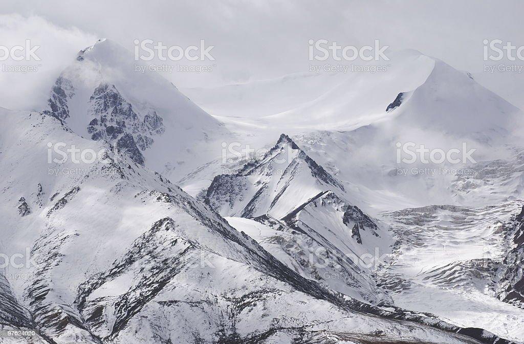 snow mountain royaltyfri bildbanksbilder