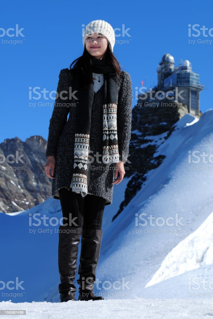 Snow Mountain Traveling - XLarge royalty-free stock photo