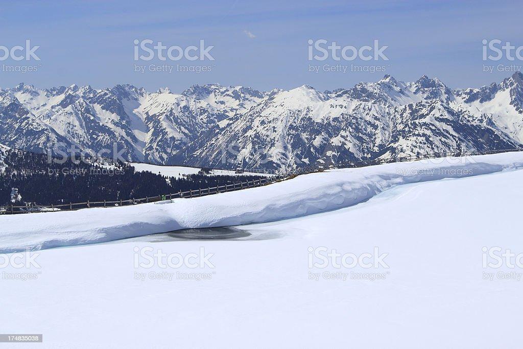 Snow mountains in Austria royalty-free stock photo