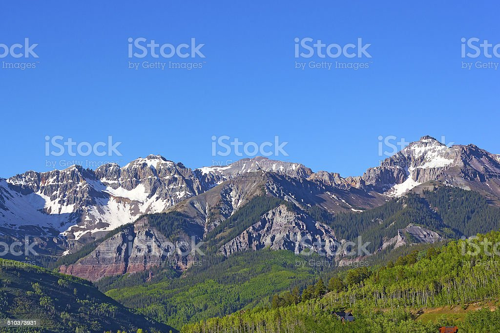 Snow Mountains of Telluride, Colorado. royalty-free stock photo
