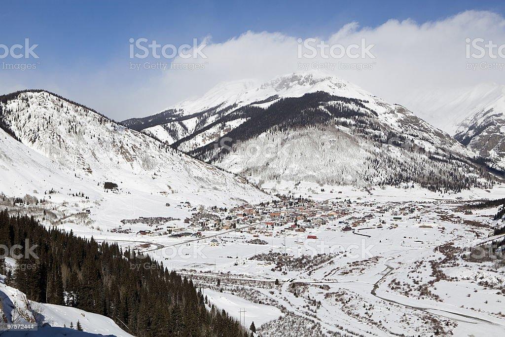 Snow mountains photo libre de droits