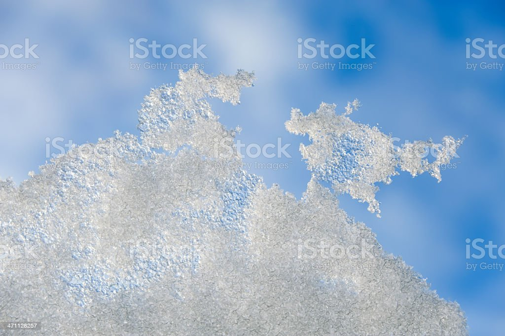 Snow on a rooflight royalty-free stock photo