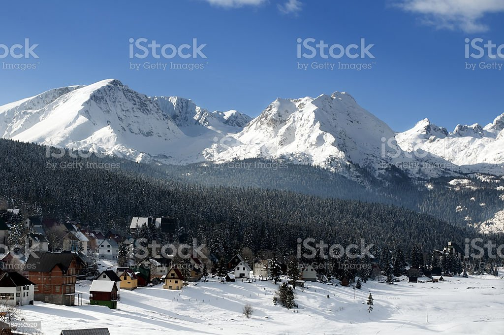 Snow on Žabljak stock photo