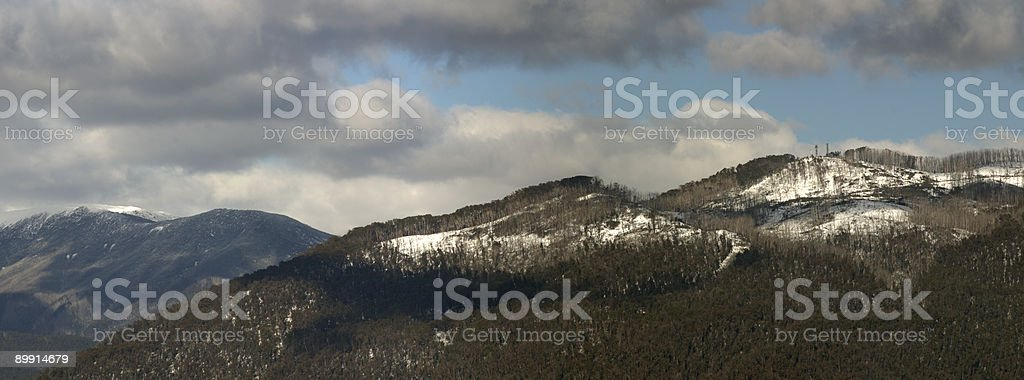 Snow on Burnt Hills royalty free stockfoto
