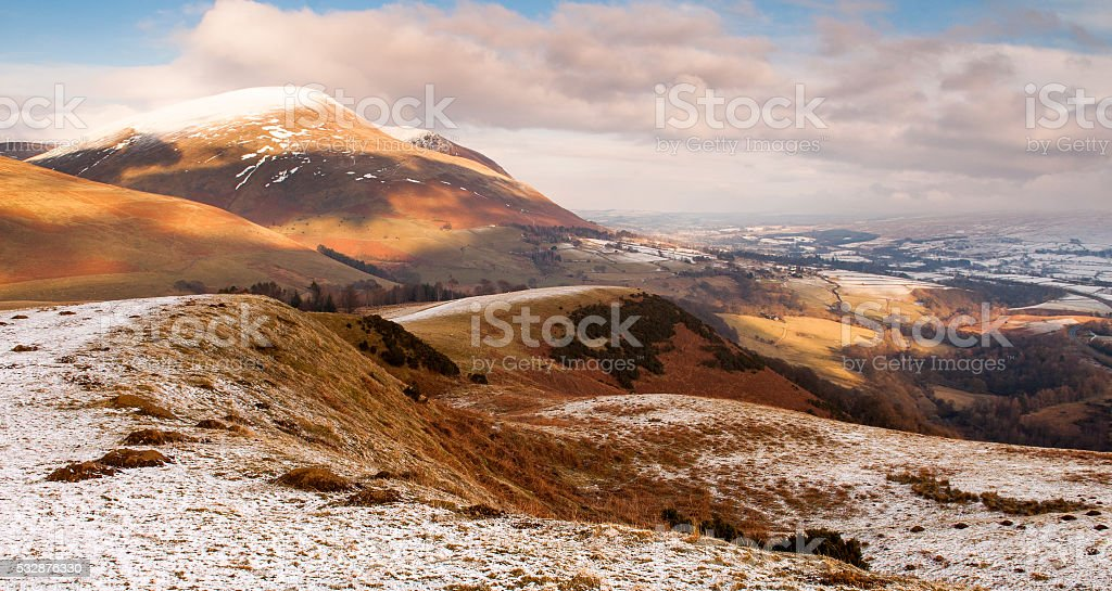 Snow on Latrigg stock photo