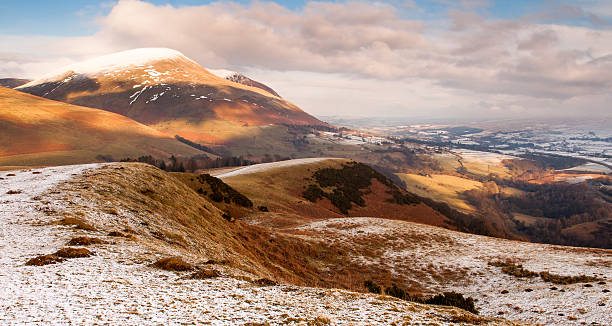 Snow on Latrigg stock photo
