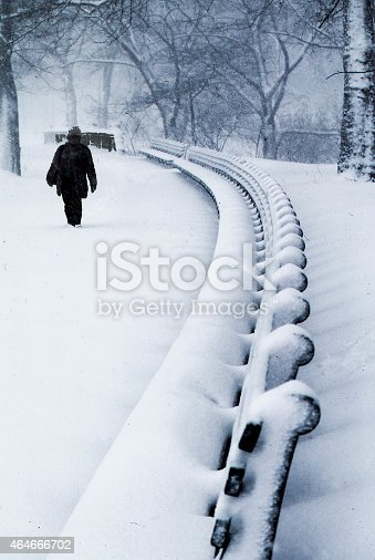 istock snow on Riverside Drive,NYC 464666702