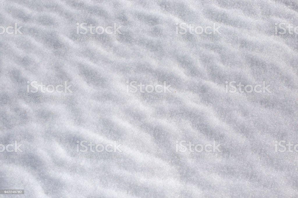 Snow on the ground stock photo