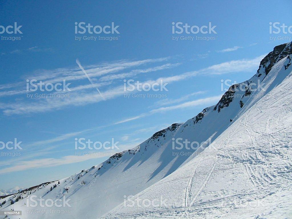 snow on the mountain royalty-free stock photo