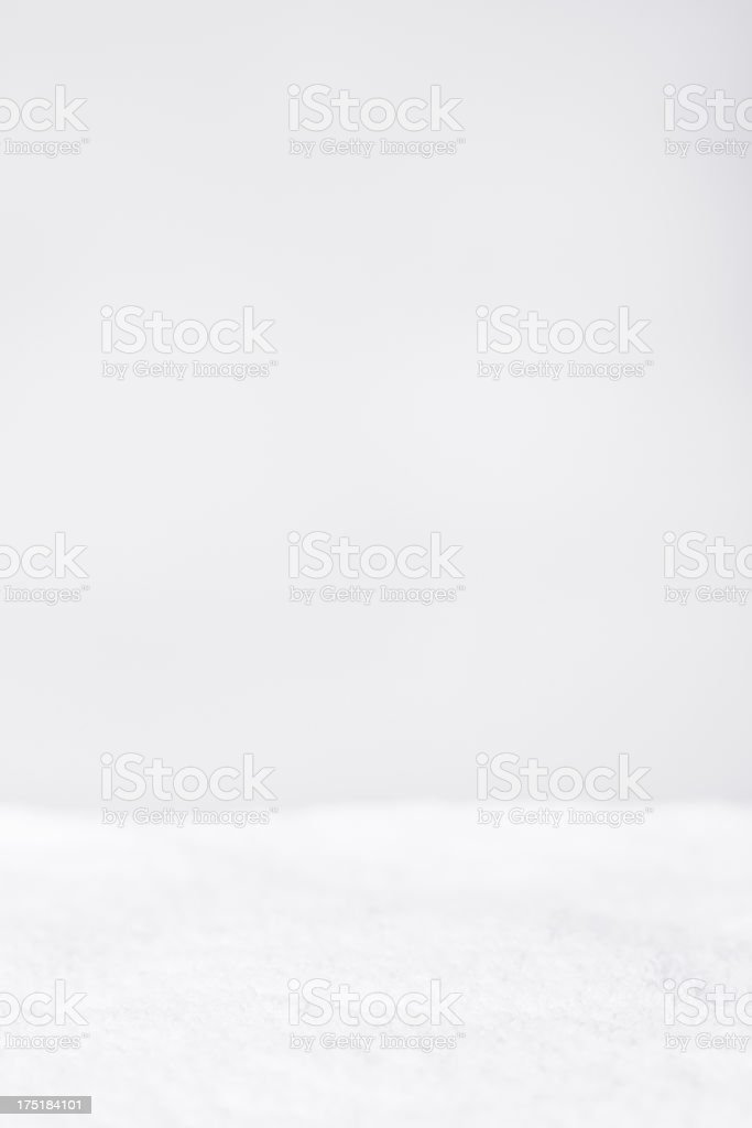 Snow on White Background, With Copy Space stock photo