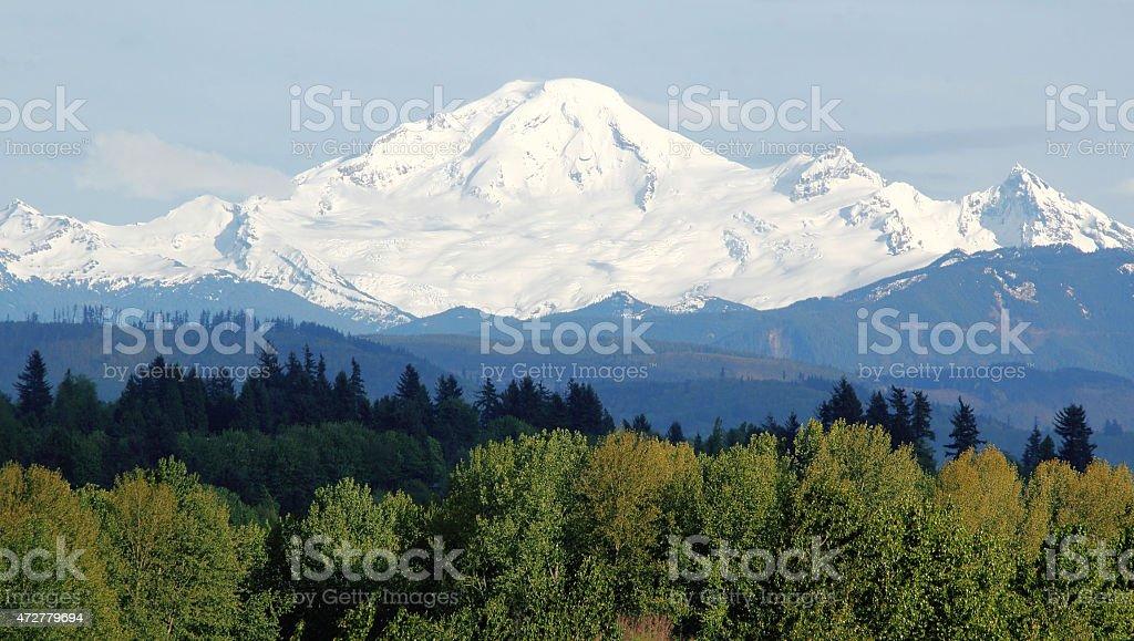 Snow Pack on Mount Baker stock photo