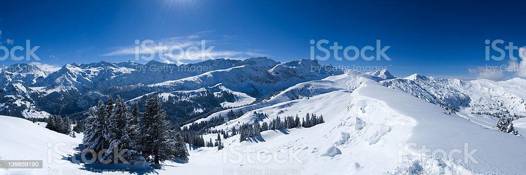 Snow Panorama royalty-free stock photo