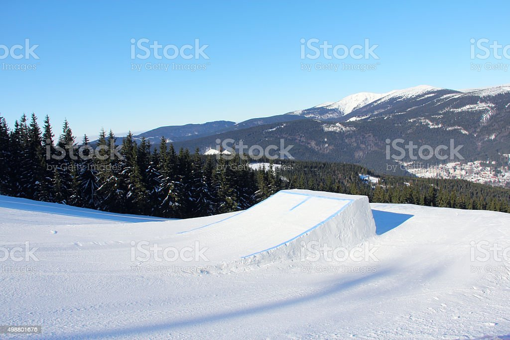 Snow park stock photo