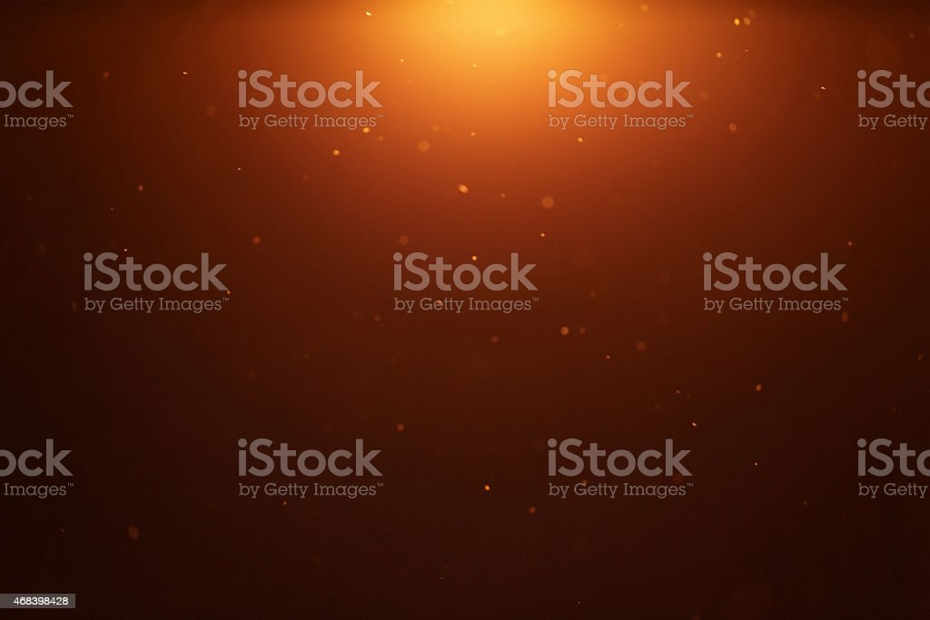 snow particles in lantern light stock photo