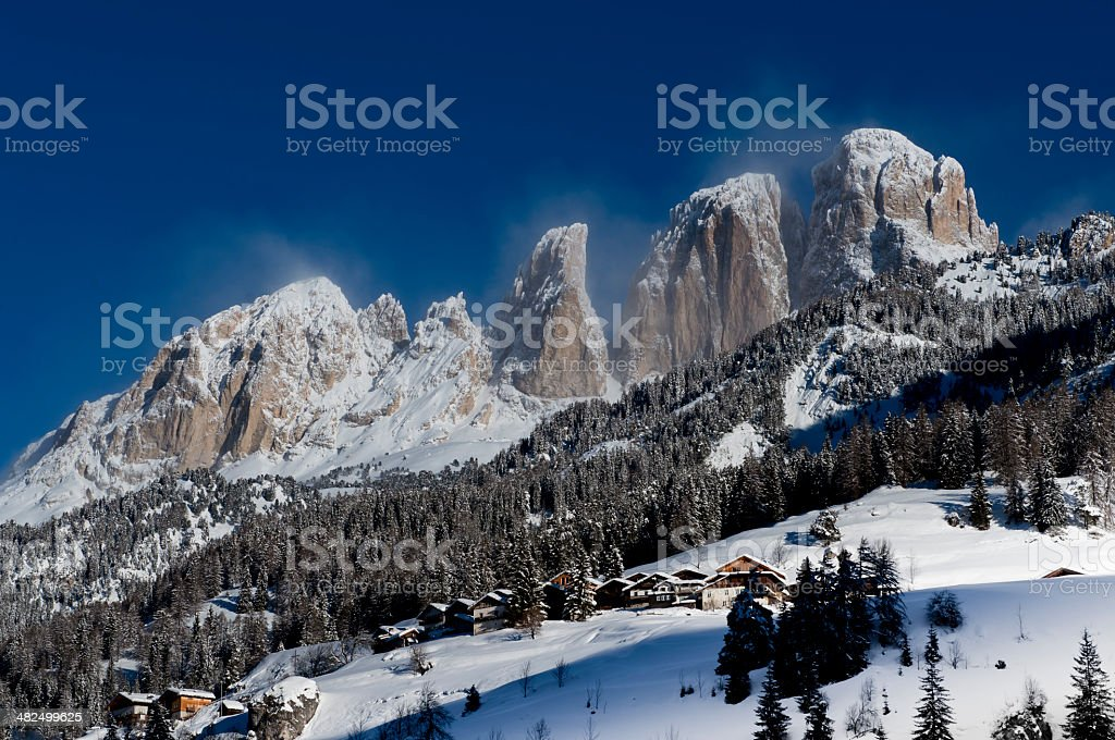 Snow, Peaks and Clouds stock photo