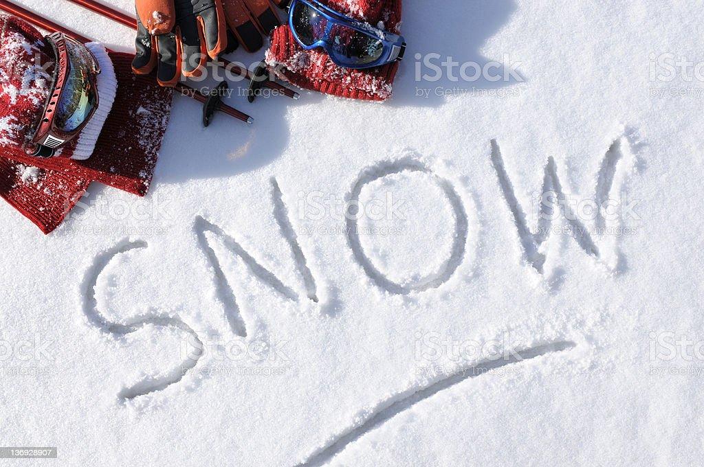 Snow royalty-free stock photo