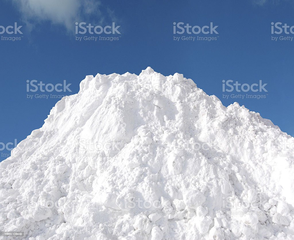 Snow pile stock photo