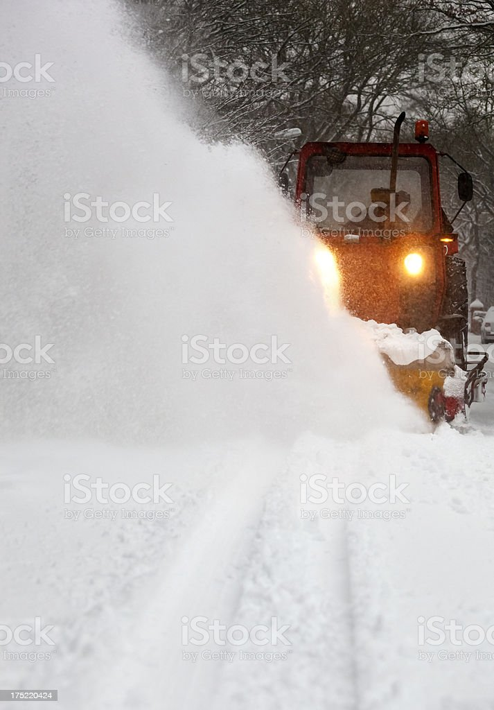 Snow plough stock photo