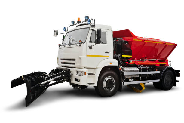 Snow Plow and Road Salting Truck