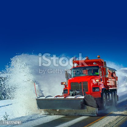 Snow plow Colorado Highway USA