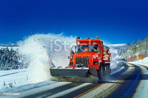 Snow plow Colorado Highway USA