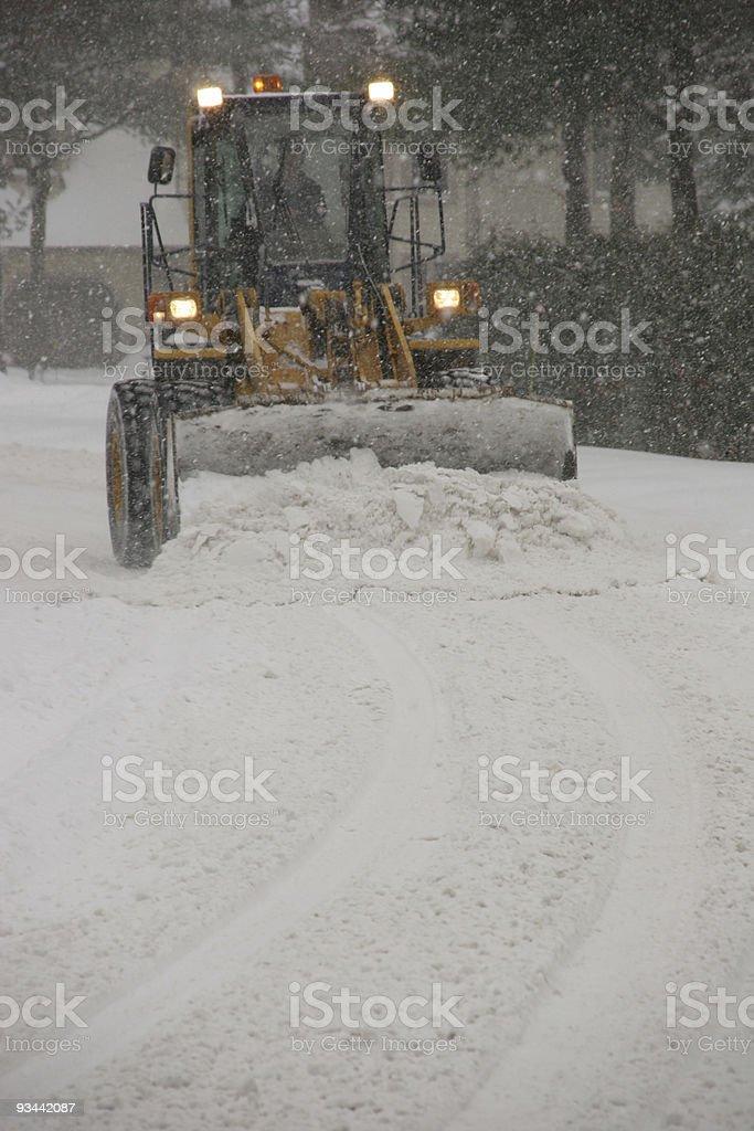Snow plow stock photo