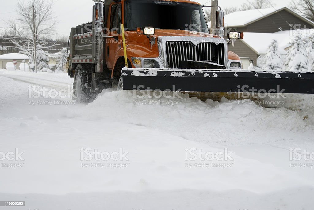 Snow Plow Up Close royalty-free stock photo