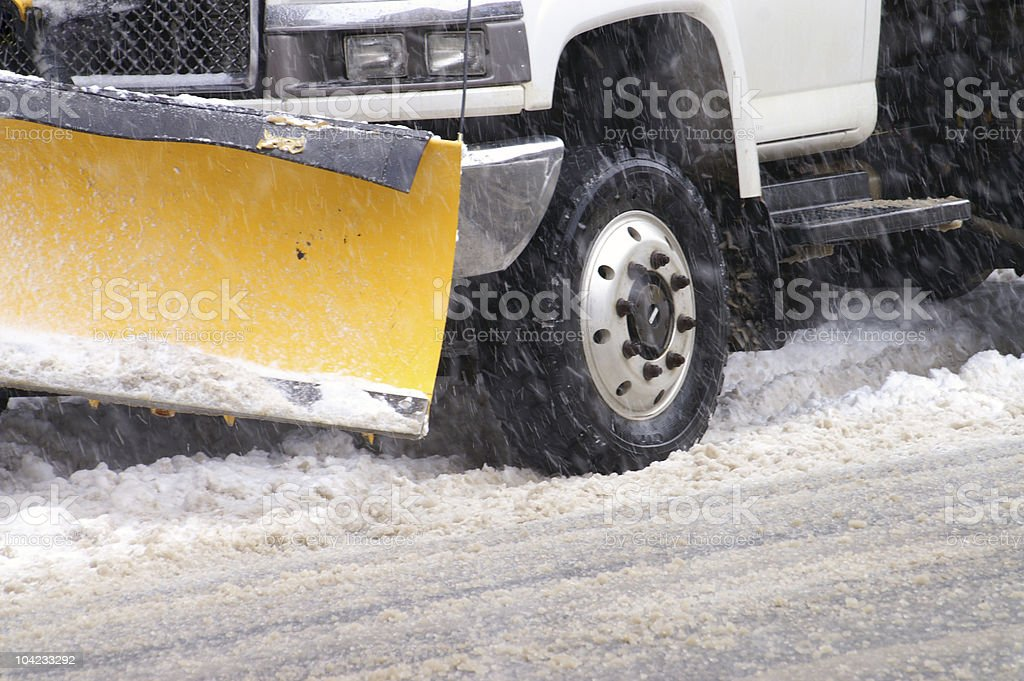 Snow plowing royalty-free stock photo