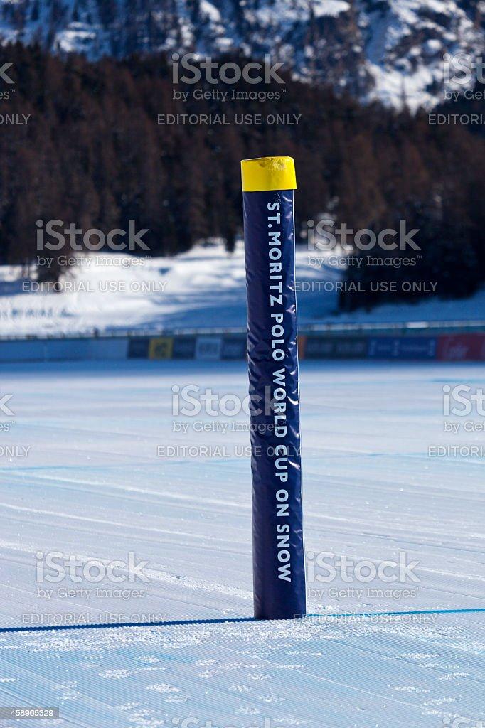 Snow Polo Goalpost royalty-free stock photo