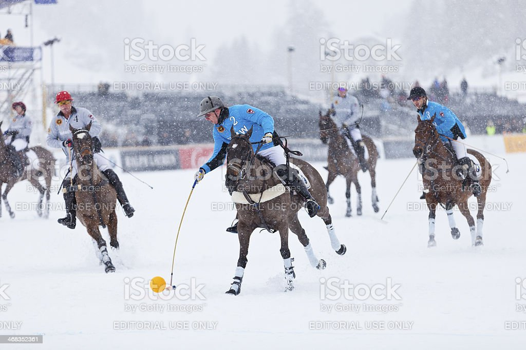 Snow Polo royalty-free stock photo