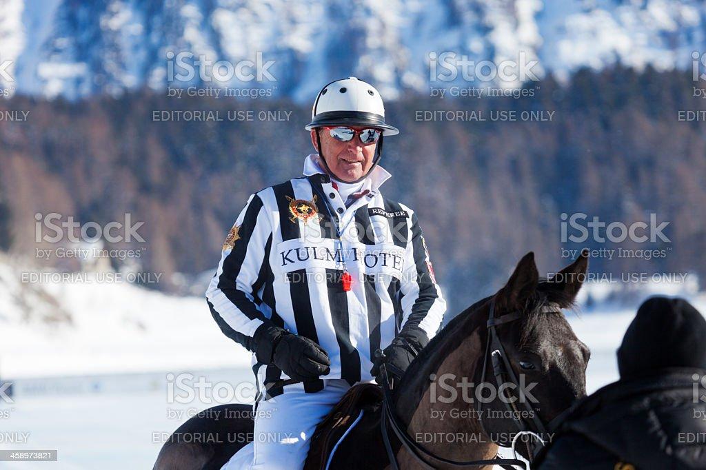 Snow Polo Referee royalty-free stock photo