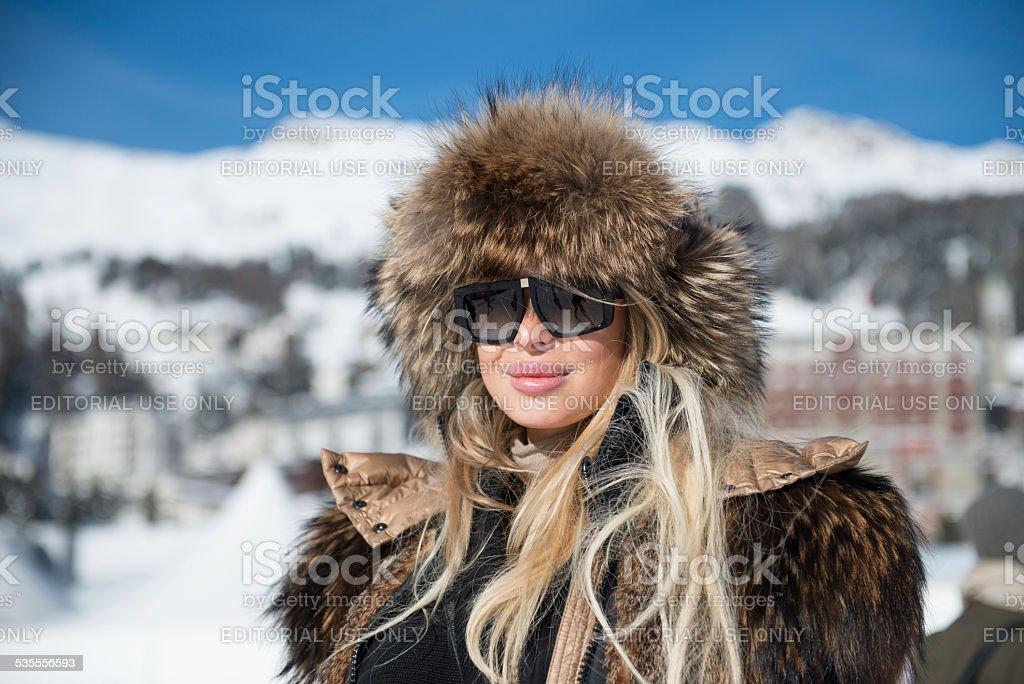 Snow Polo St.Moritz stock photo