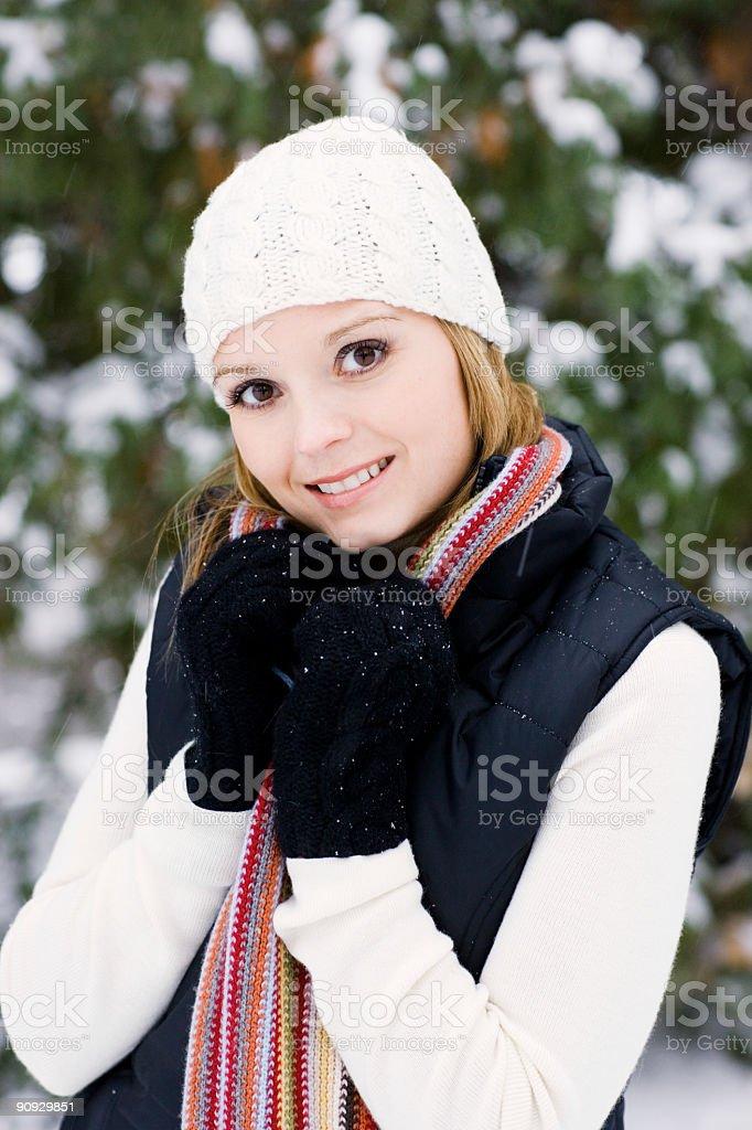 Snow Portrait royalty-free stock photo