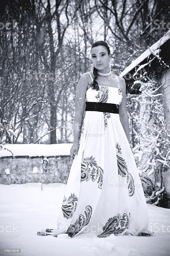 Snow Princess. royalty-free stock photo