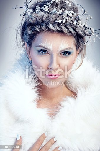 istock snow queen in winter fur 1187100431