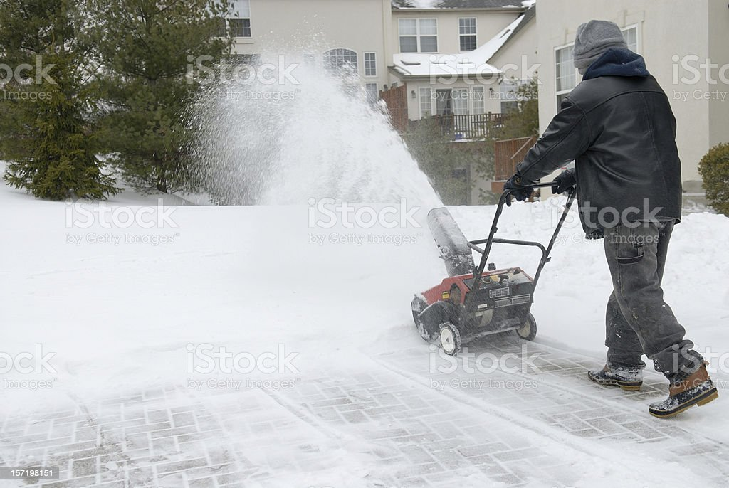 Snow Removal 1 royalty-free stock photo