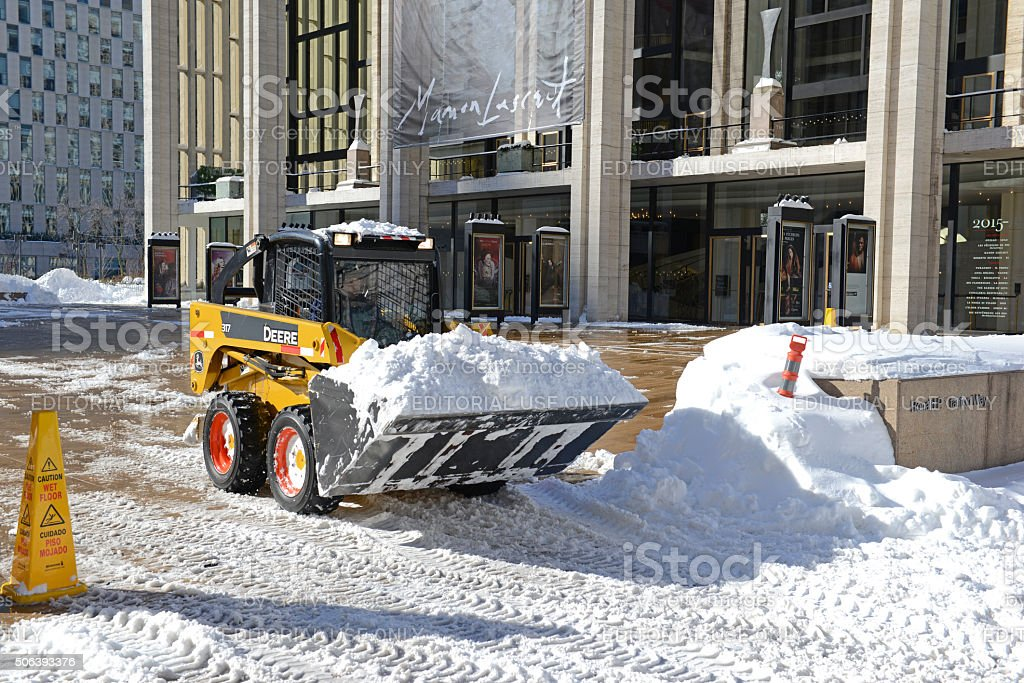 Snow removal equipment in Manhattan stock photo