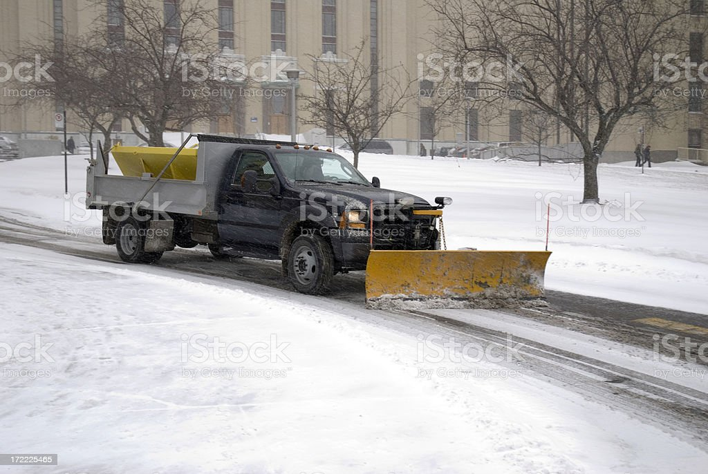 Snow Removal Truck royalty-free stock photo