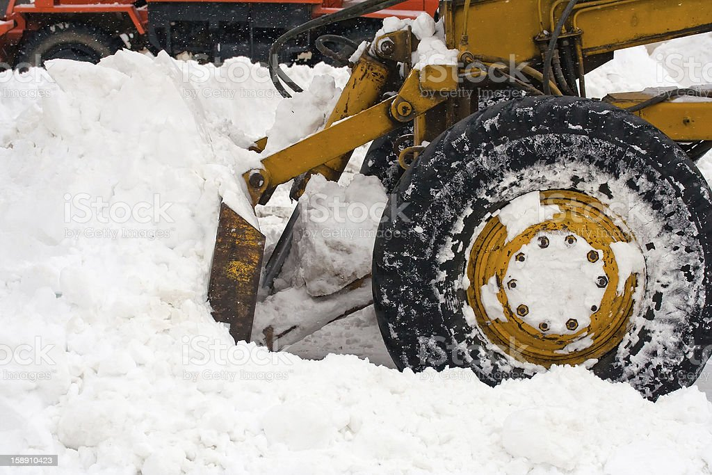 Snow removal vehicle removing royalty-free stock photo