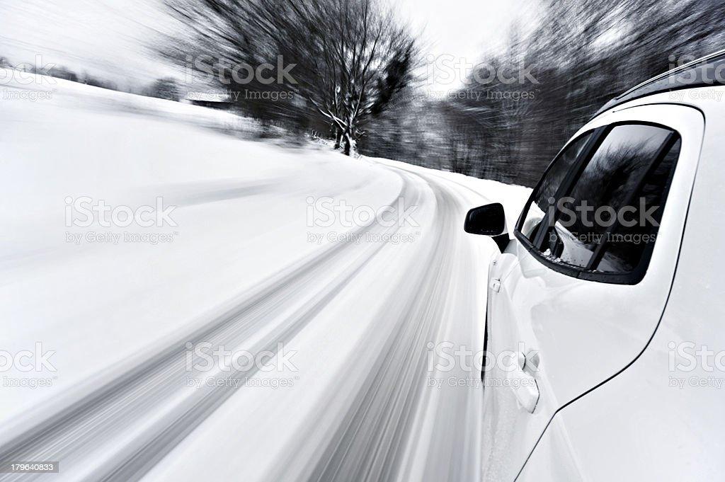 Snow ride stock photo
