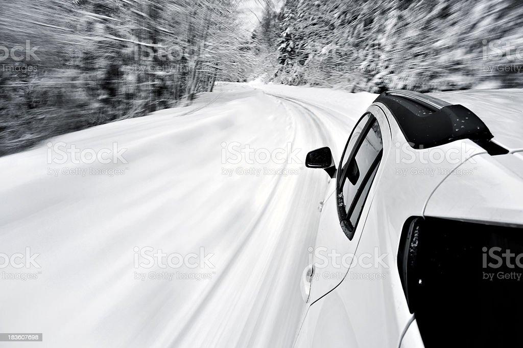 Snow ride royalty-free stock photo