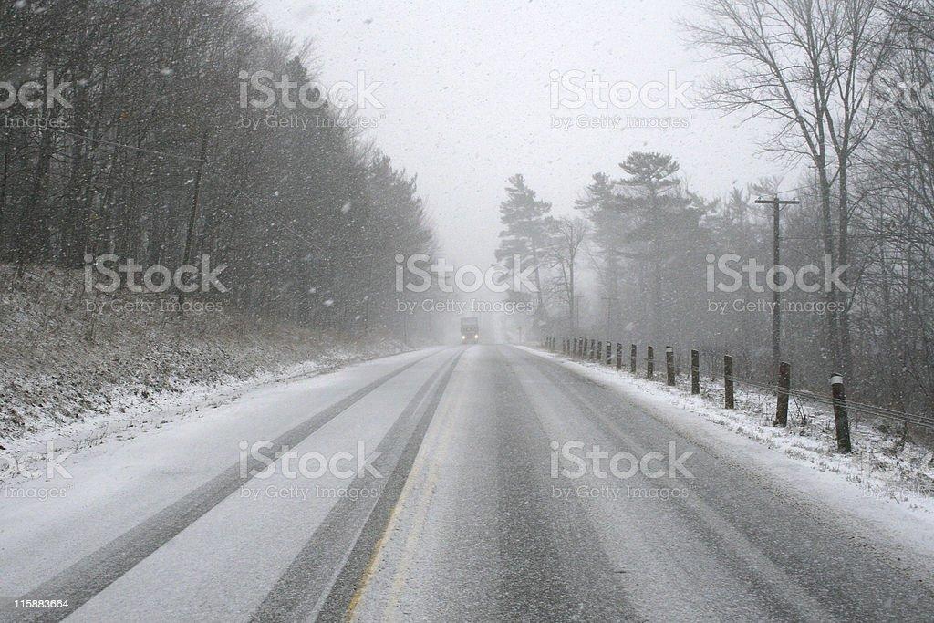 Snow road royalty-free stock photo