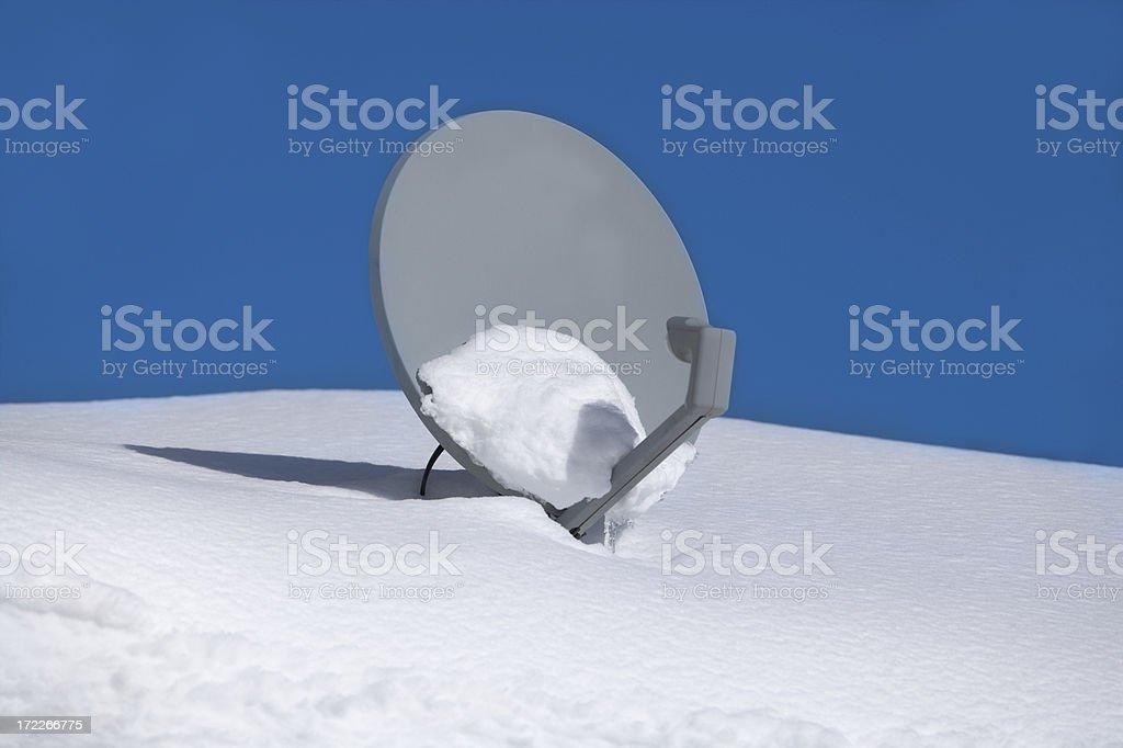 Snow satellite stock photo