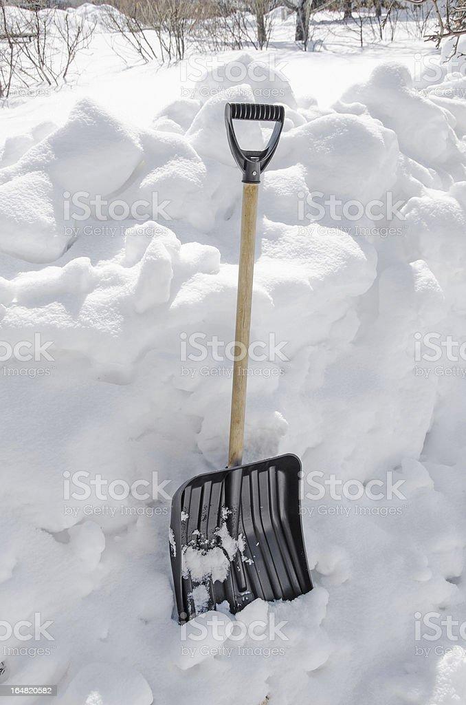 Snow Shovel stock photo