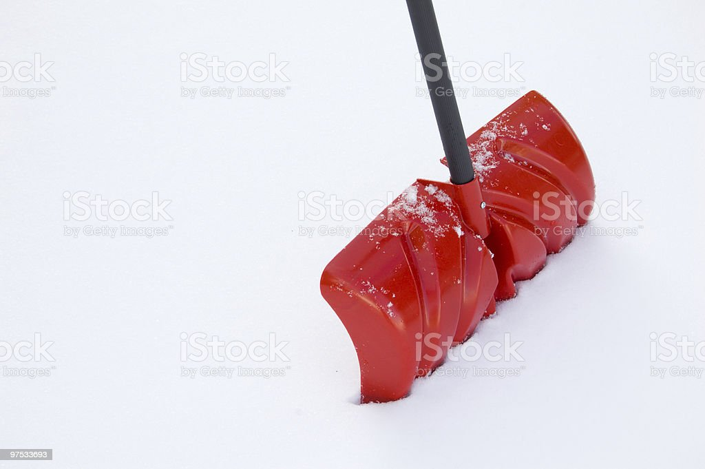 Snow Shovel royalty-free stock photo