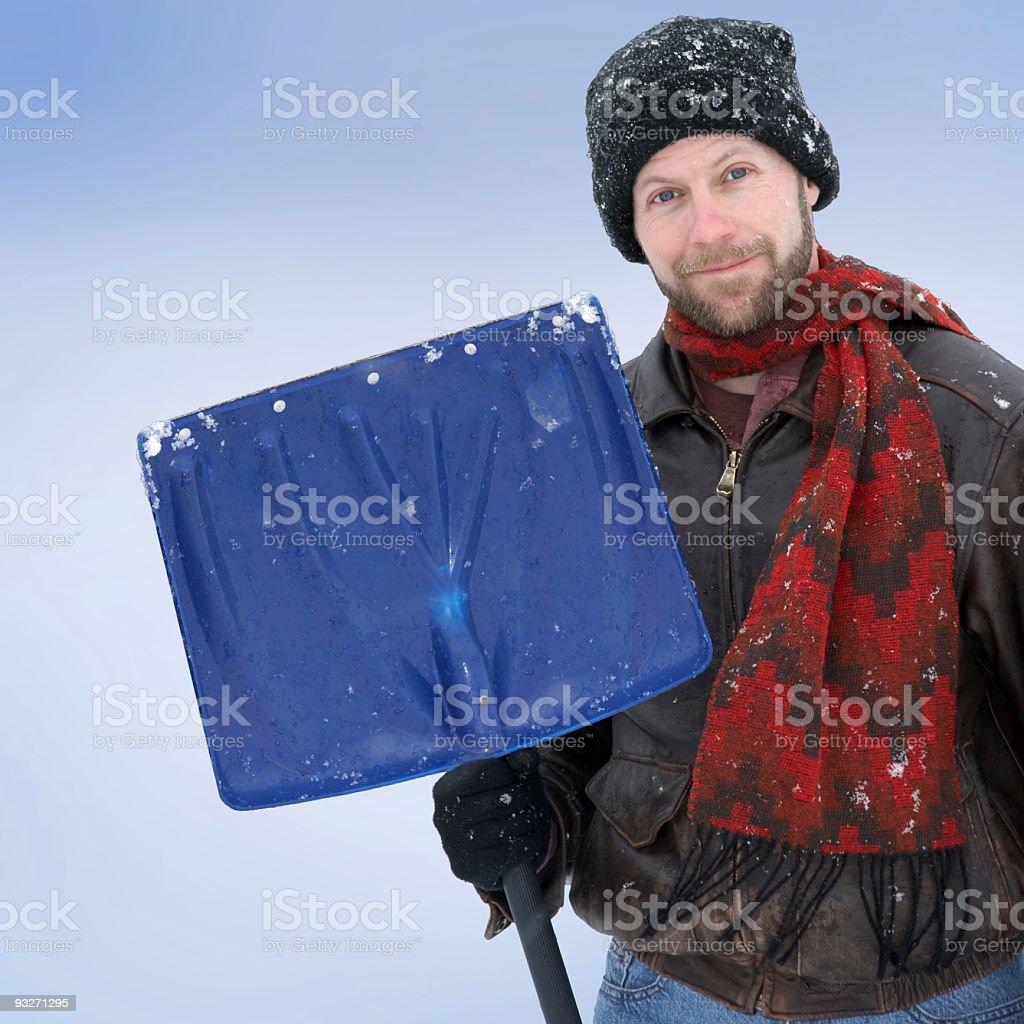 Snow Shoveler stock photo