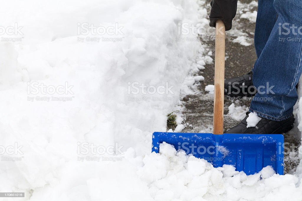 Snow Shoveling stock photo