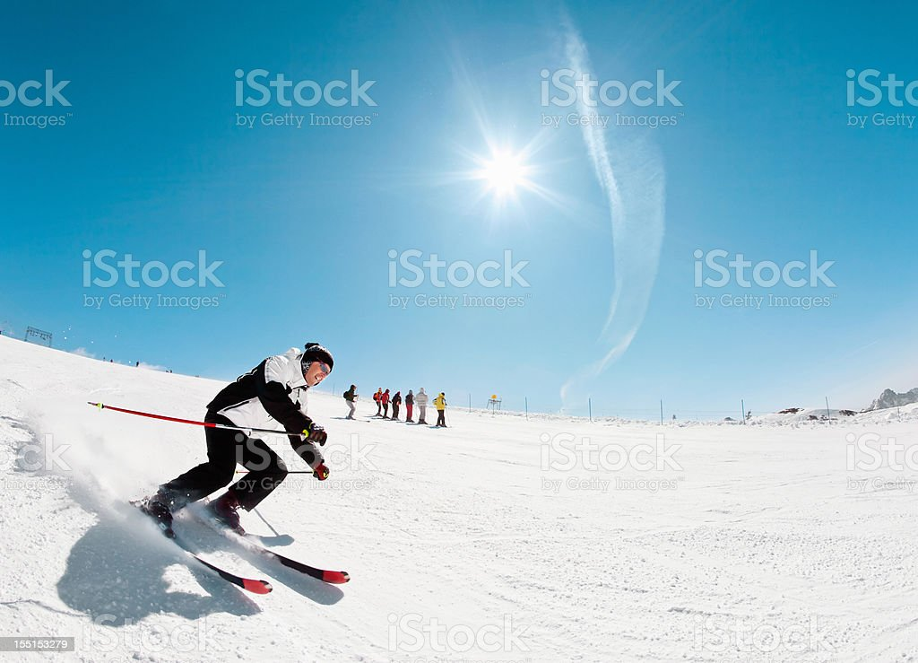 Snow Skier - Carving stock photo